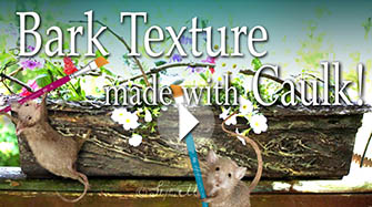 How to Make Faux Bois Fake Bark Effects with Caulk