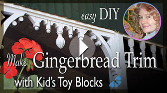 How to Make Victorian Gingerbread House Trim