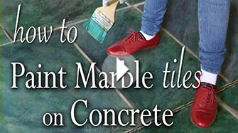 How to Paint Faux Marble on Concrete