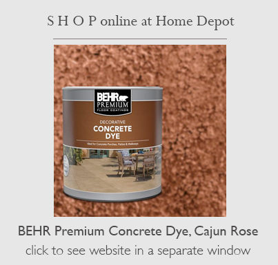 buy Behr Concrete Dye for this project