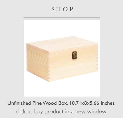 Buy an unfinished box for this craft