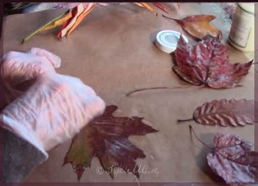 How to apply liquid wax to autumn leaves