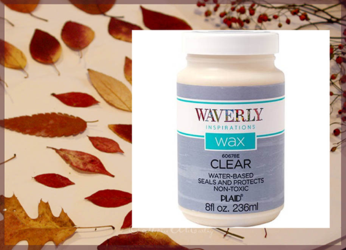 Waverly Inspirations Clear Wax leaf preservation
