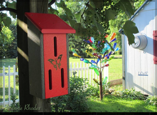 multi color bottle tree