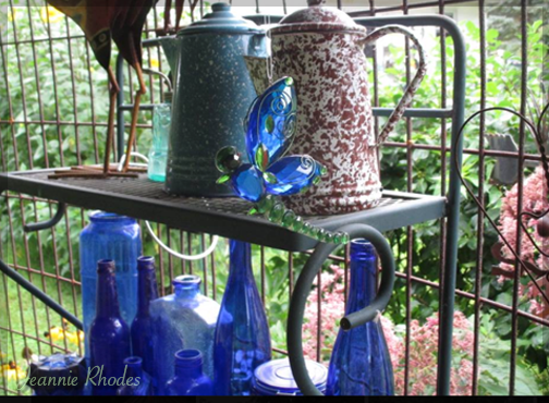 enamelware and cobalt glass