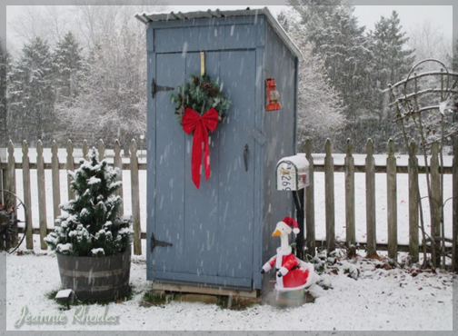 outhouse turned tool shed