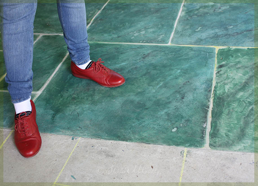 How to Paint Concrete in a TIle pattern