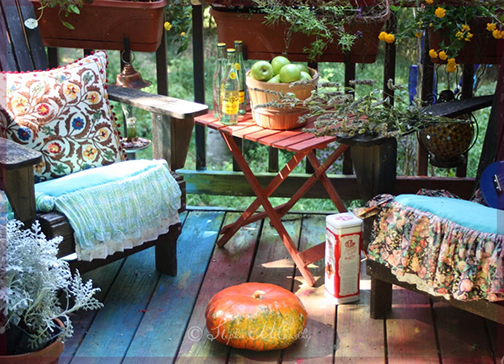 Using leftover paint for outdoor spaces