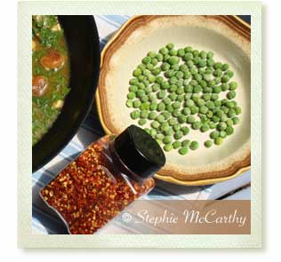 Peas and pepper