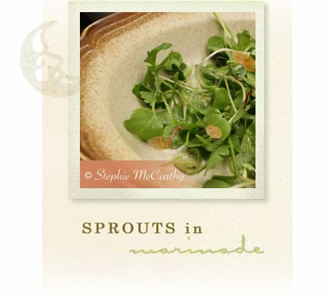 Sprouts in nut marinade
