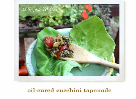 oil-cured zucchini tapenade