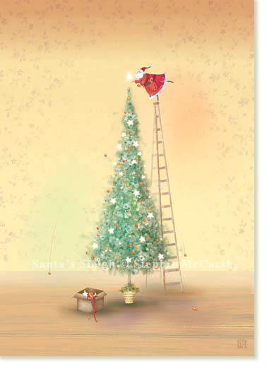 CR Gibson Santa Tree by Stephie McCarthy