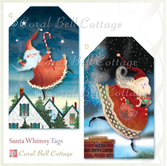 Santa tags by Coral Bell Cottage
