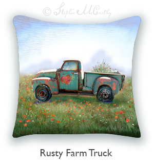Farm Truck Pillow