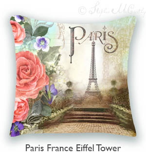 Buy Paris France Eiffel Tower Pillow