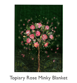 Topiary Rose Minky Blanket
